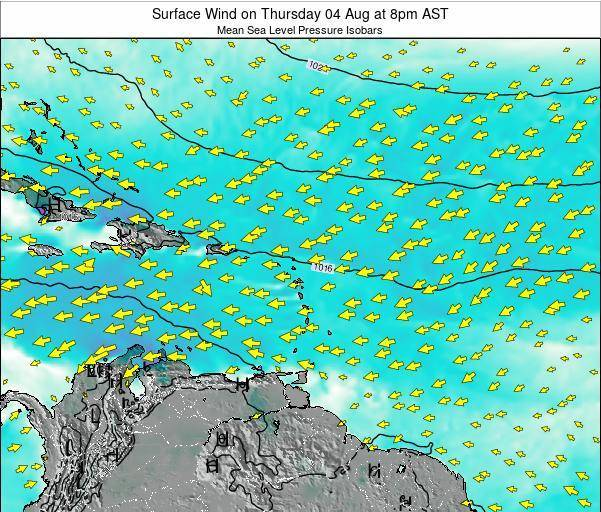 British Virgin Islands Surface Wind on Sunday 26 May at 8am AST