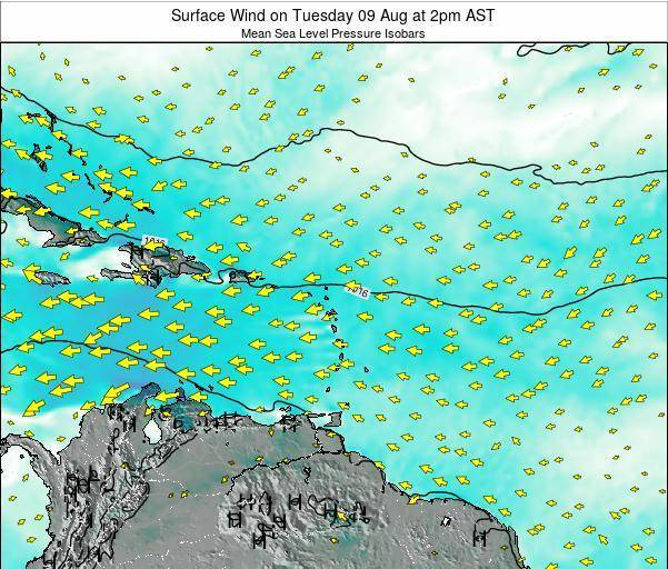 Saint Lucia Surface Wind on Wednesday 04 May at 8am AST