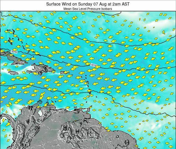 Saint Lucia Surface Wind on Tuesday 28 May at 8am AST