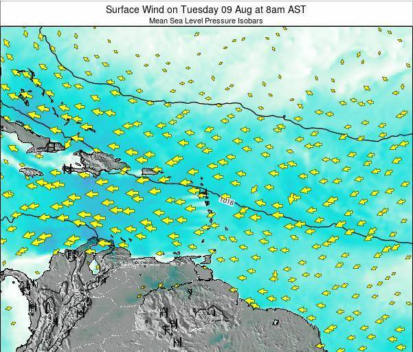 British Virgin Islands Surface Wind on Friday 13 Dec at 8am AST