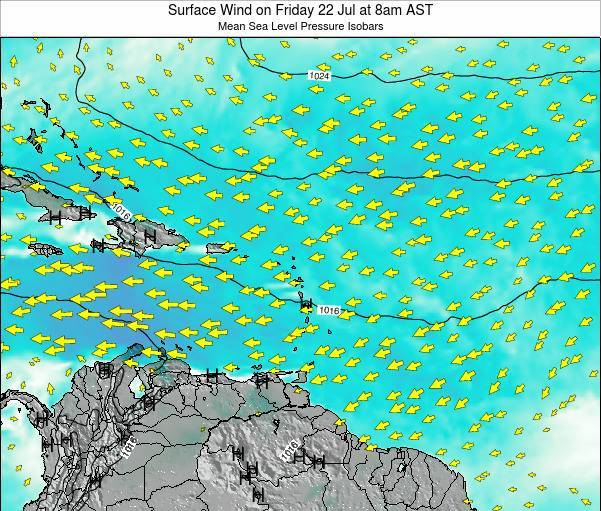 British Virgin Islands Surface Wind on Tuesday 02 May at 2pm AST