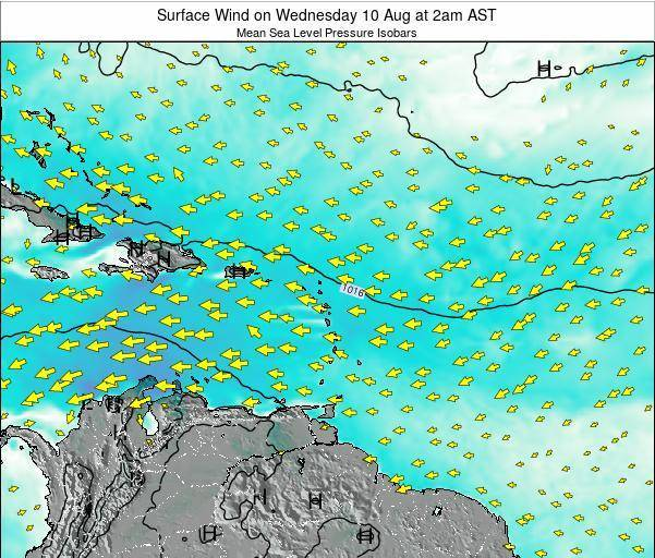 British Virgin Islands Surface Wind on Saturday 26 Apr at 8pm AST