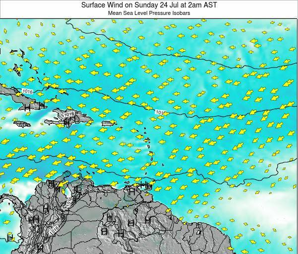 British Virgin Islands Surface Wind on Monday 27 May at 8pm AST