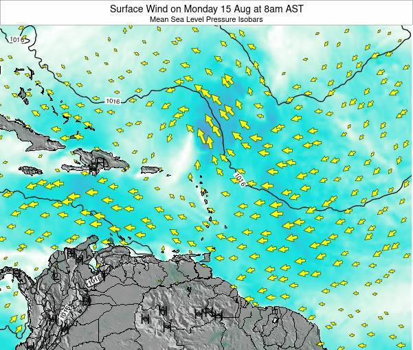 British Virgin Islands Surface Wind on Tuesday 02 Dec at 8pm AST