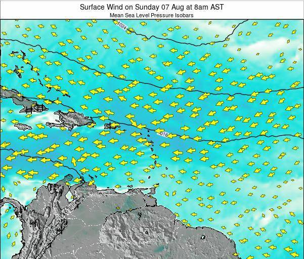 British Virgin Islands Surface Wind on Monday 28 Apr at 8pm AST
