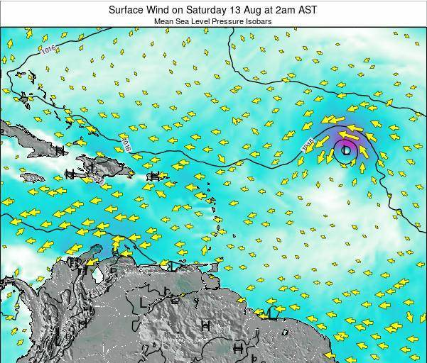 British Virgin Islands Surface Wind on Tuesday 28 May at 2pm AST