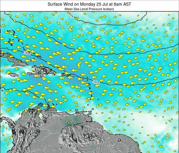 British Virgin Islands Surface Wind on Thursday 23 May at 8am AST