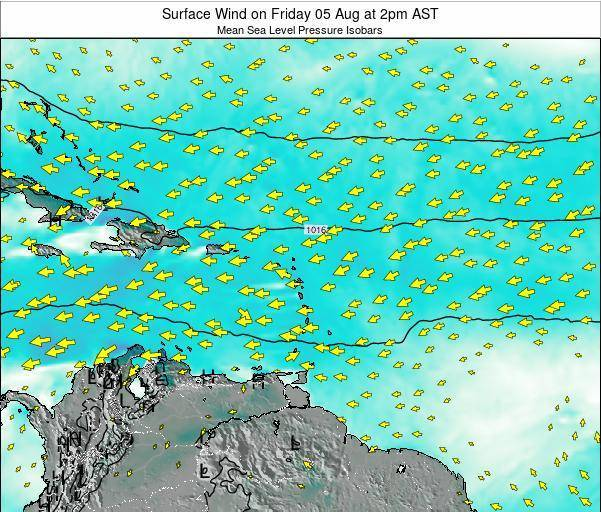 British Virgin Islands Surface Wind on Wednesday 23 Apr at 8pm AST