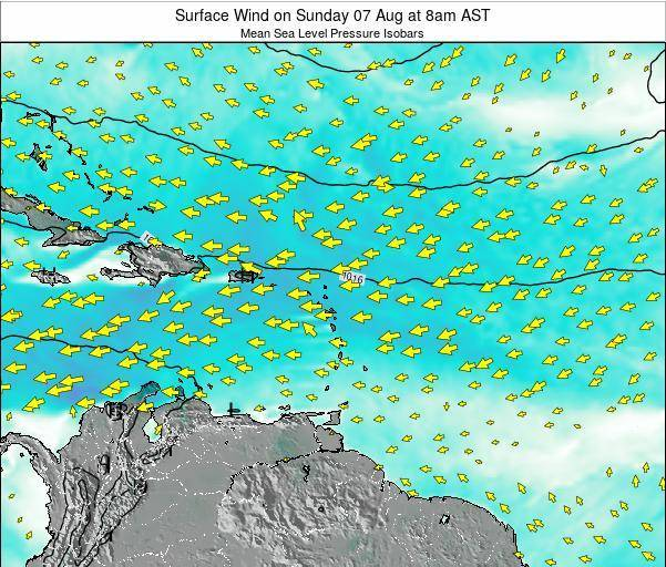 Saint Lucia Surface Wind on Sunday 08 Dec at 8pm AST