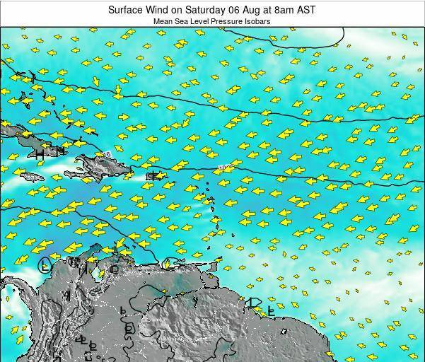 British Virgin Islands Surface Wind on Saturday 30 May at 8pm AST