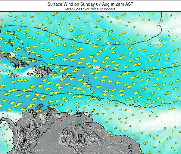 British Virgin Islands Surface Wind on Friday 13 Dec at 2pm AST