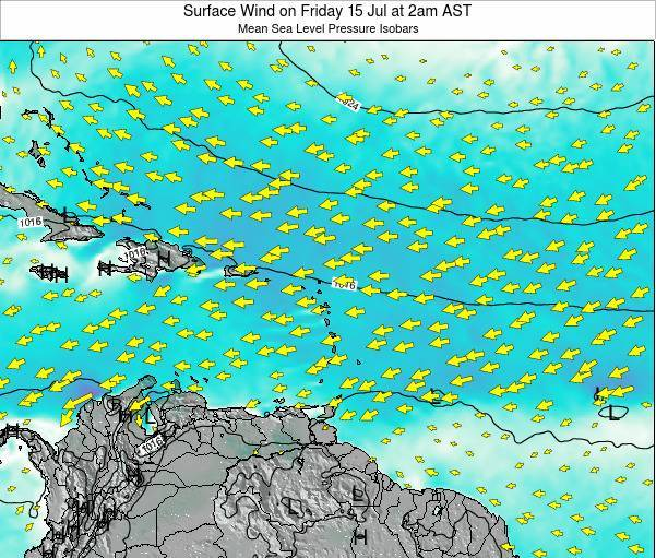 British Virgin Islands Surface Wind on Tuesday 02 Sep at 8am AST
