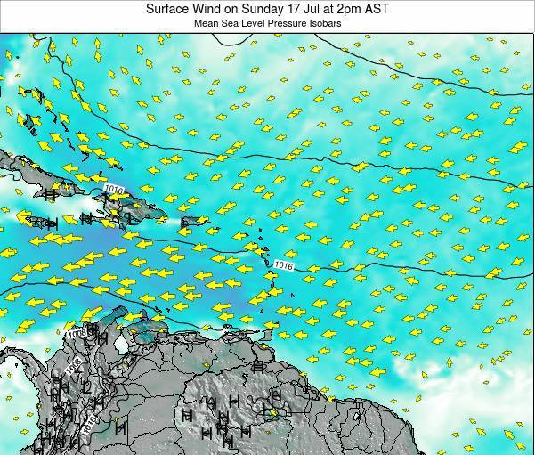 British Virgin Islands Surface Wind on Friday 25 Apr at 8am AST