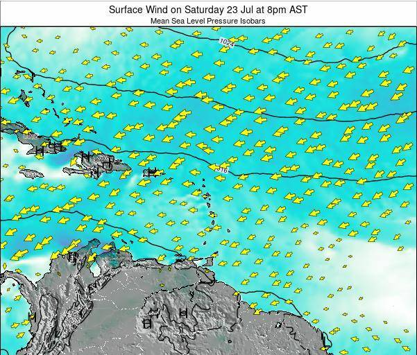 British Virgin Islands Surface Wind on Sunday 26 May at 8pm AST