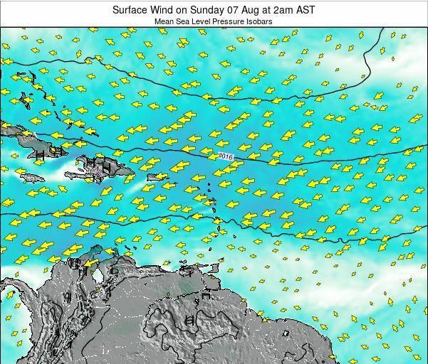 British Virgin Islands Surface Wind on Monday 17 Jun at 8pm AST
