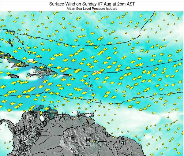Puerto Rico Surface Wind on Wednesday 22 May at 2pm AST