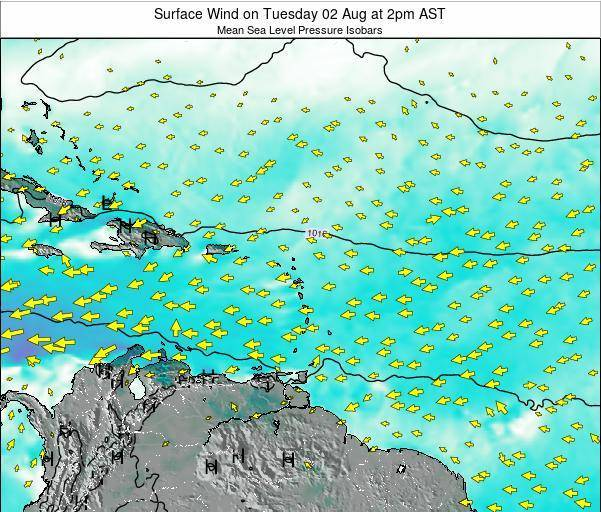Anguilla Surface Wind on Saturday 26 Apr at 8pm AST map