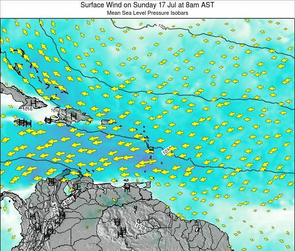 British Virgin Islands Surface Wind on Sunday 06 Sep at 8pm AST