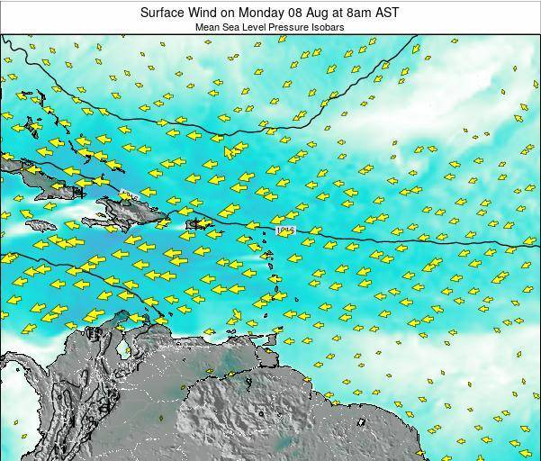 British Virgin Islands Surface Wind on Friday 06 May at 2pm AST