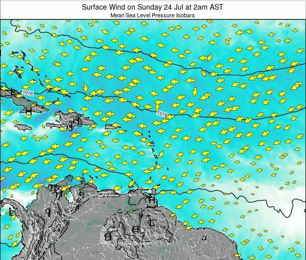 British Virgin Islands Surface Wind on Saturday 29 Oct at 8pm AST