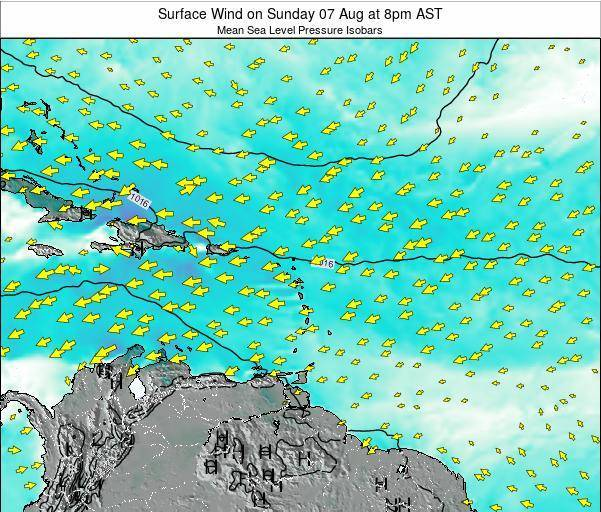 British Virgin Islands Surface Wind on Friday 14 Mar at 8pm AST