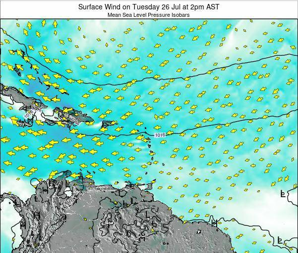 British Virgin Islands Surface Wind on Saturday 19 Apr at 8pm AST