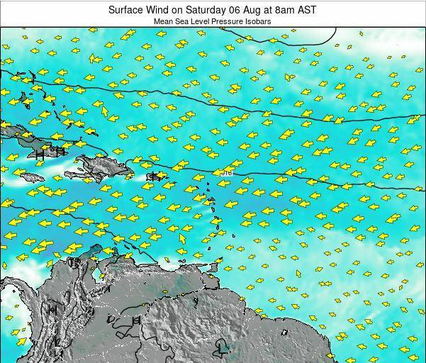 Saint Lucia Surface Wind on Friday 30 Jun at 2pm AST