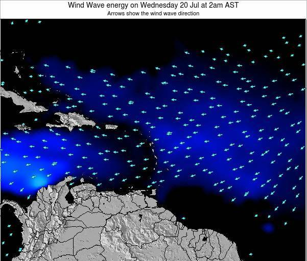 Saint Lucia Wind Wave energy on Monday 28 Jul at 8am AST