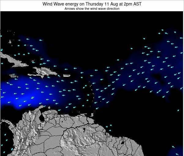 Saint Lucia Wind Wave energy on Thursday 06 Aug at 8pm AST