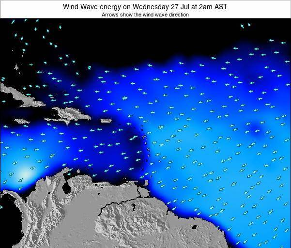 Saint Lucia Wind Wave energy on Monday 01 Jun at 2am AST