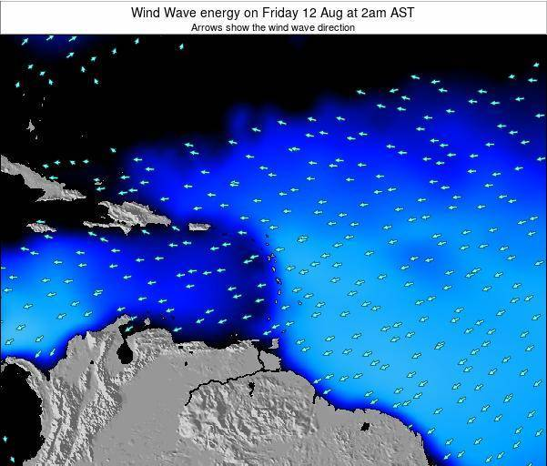 Saint Lucia Wind Wave energy on Thursday 24 Apr at 2pm AST