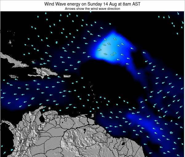 Saint Lucia Wind Wave energy on Monday 03 Oct at 8am AST