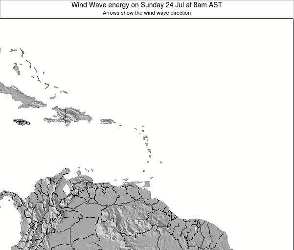 Saint Lucia Wind Wave energy on Wednesday 30 Apr at 8am AST