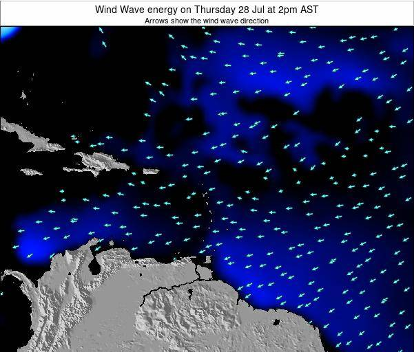 Saint Lucia Wind Wave energy on Thursday 24 Apr at 8am AST