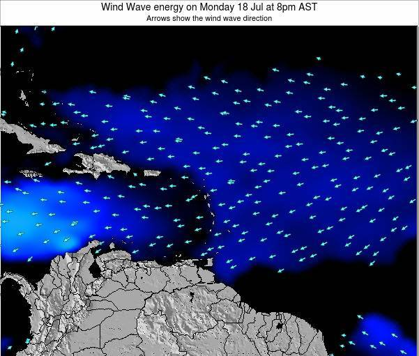 Martinique Wind Wave energy on Saturday 25 May at 8am AST