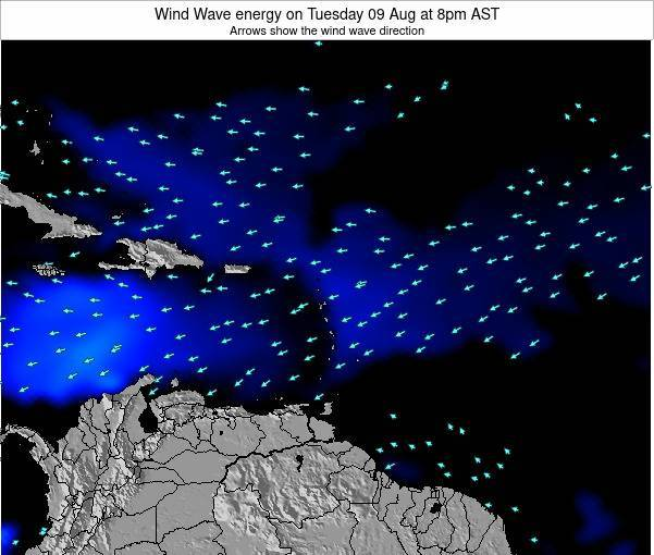 Montserrat Wind Wave energy on Tuesday 11 Mar at 2am AST