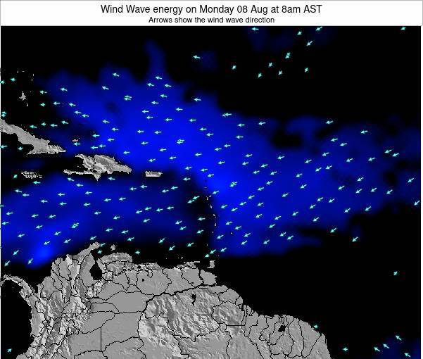 Montserrat Wind Wave energy on Saturday 02 Aug at 2pm AST