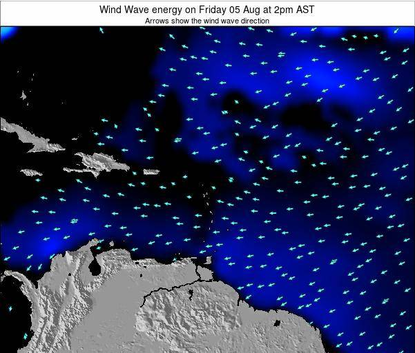 Saint Lucia Wind Wave energy on Sunday 20 Apr at 8am AST