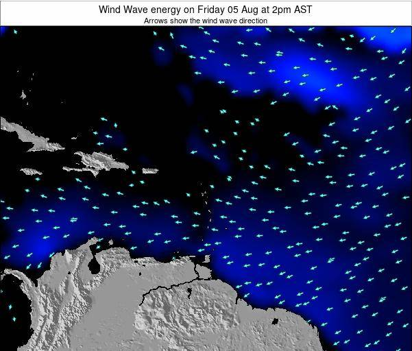 Saint Lucia Wind Wave energy on Sunday 20 Apr at 2pm AST