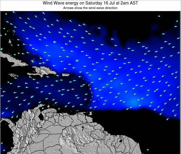 Saint Lucia Wind Wave energy on Sunday 08 Dec at 2pm AST