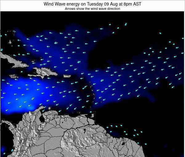 Saint Lucia Wind Wave energy on Tuesday 11 Mar at 8pm AST