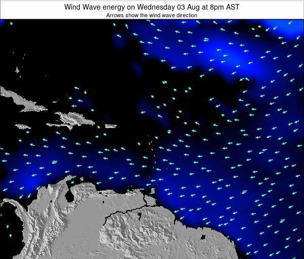 Saint Lucia Wind Wave energy on Friday 30 Jan at 8am AST