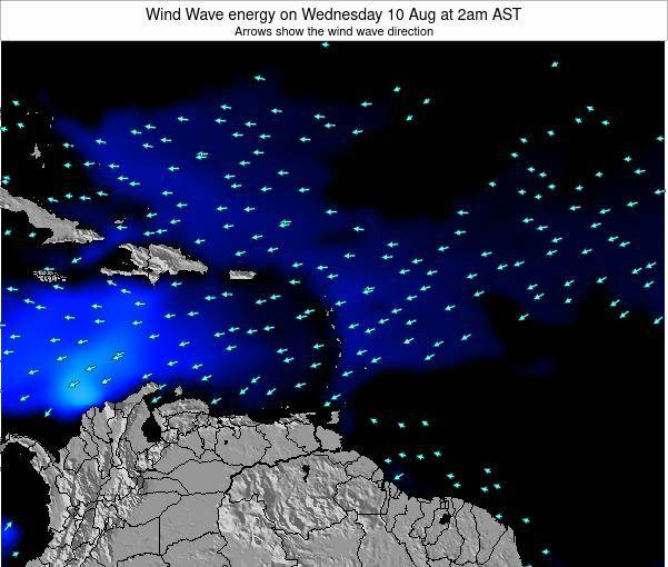 Montserrat Wind Wave energy on Friday 27 Apr at 8pm AST map