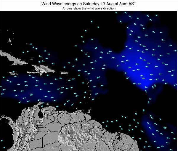 Saint Lucia Wind Wave energy on Wednesday 27 May at 2am AST