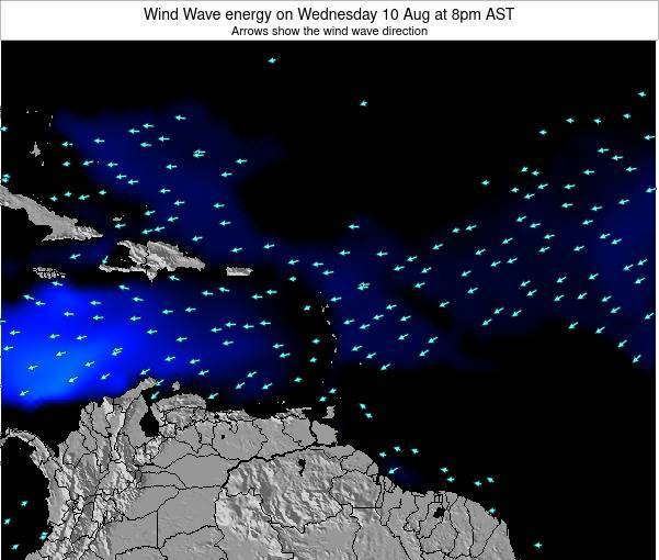 Saint Lucia Wind Wave energy on Saturday 22 Jun at 2am AST