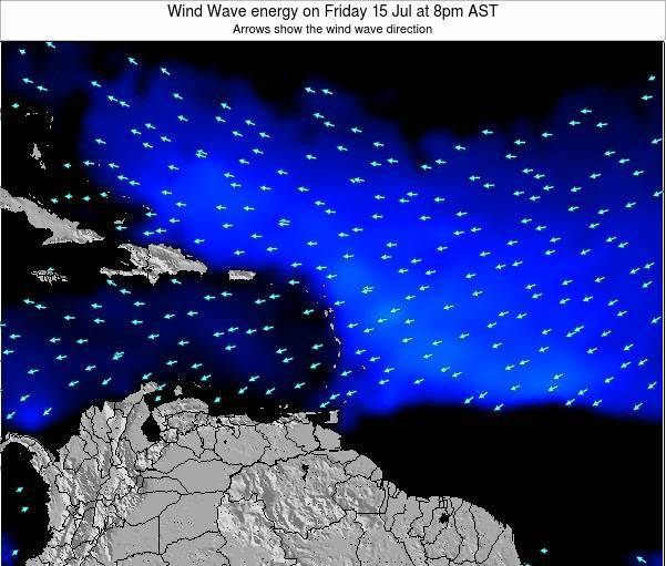 Saint Lucia Wind Wave energy on Saturday 19 Aug at 8pm AST