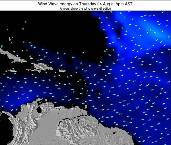 Saint Lucia Wind Wave energy on Thursday 24 Jul at 2pm AST