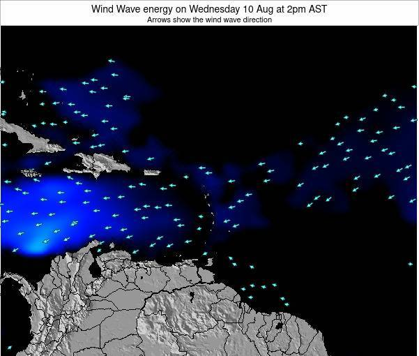 Saint Lucia Wind Wave energy on Sunday 26 May at 2am AST