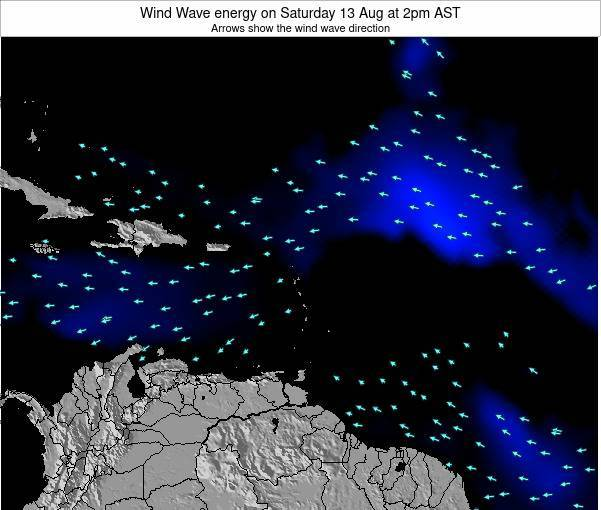 Montserrat Wind Wave energy on Monday 04 Aug at 2pm AST