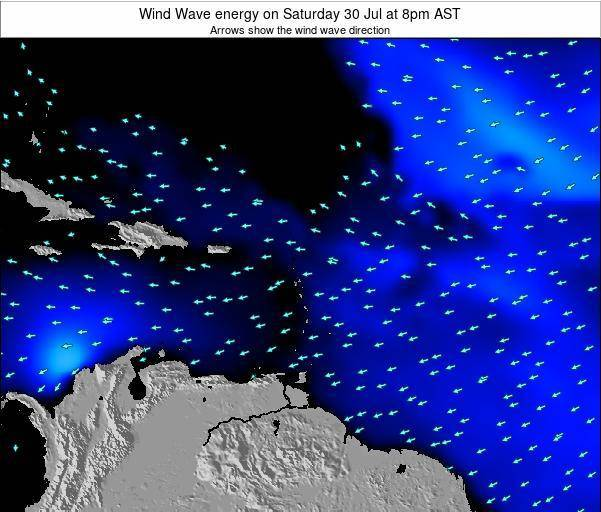 Montserrat Wind Wave energy on Sunday 26 Nov at 2am AST map